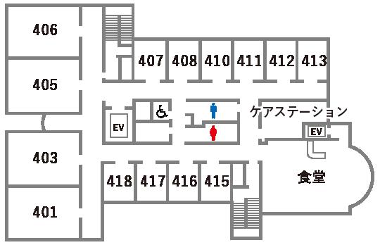 4Fフロアマップ